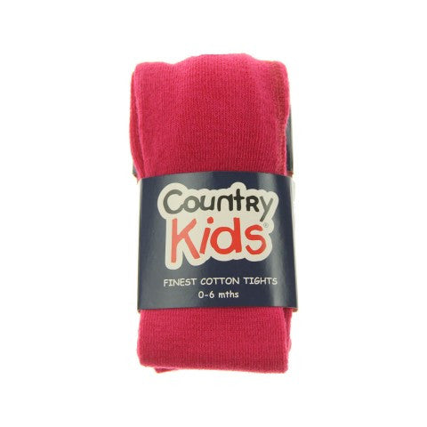 Country Kids Luxury Cotton Tights Hot Pink