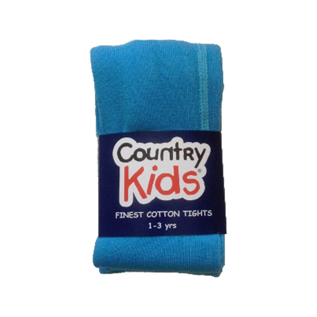 Country Kids Luxury Cotton Tights Turquoise