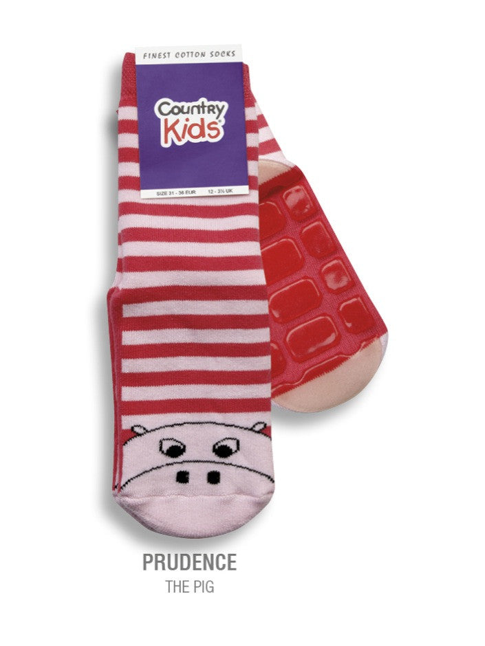 Country Kids Slipper Socks Prudence Pig