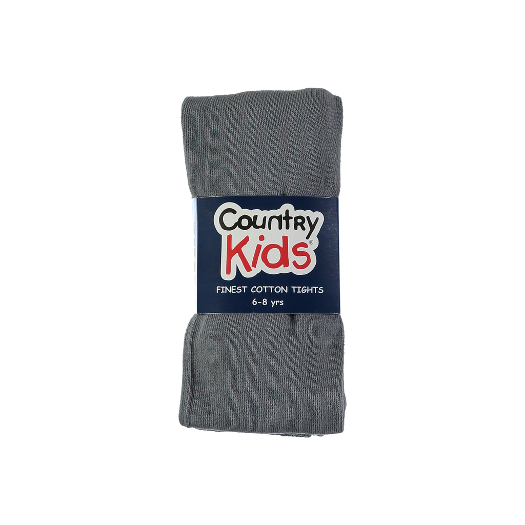 Country Kids Luxury Cotton Tights Slate Grey
