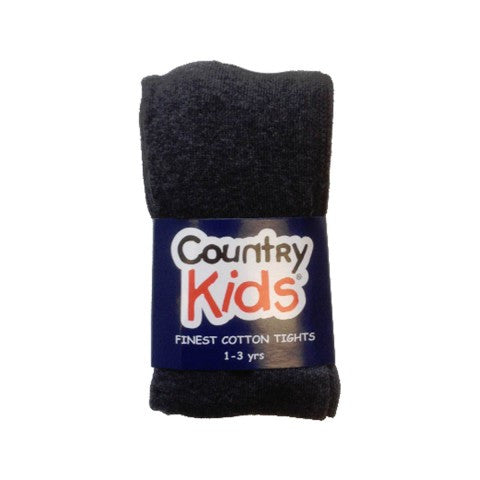 Country Kids Luxury Cotton Tights Charcoal Grey