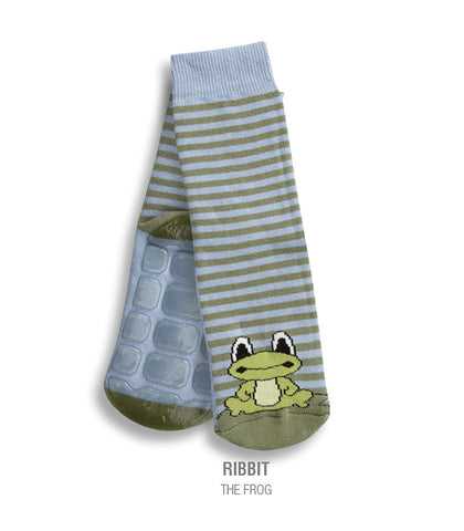 Country Kids Slipper Socks Ribbit Frog