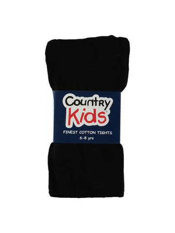 Country Kids Luxury Cotton Tights Black