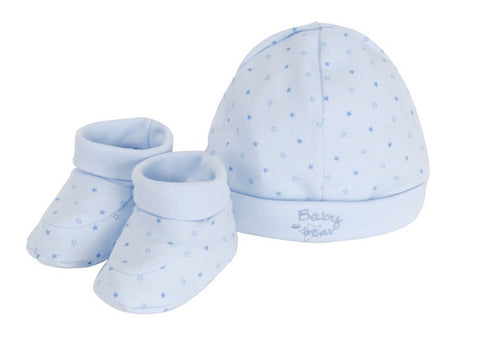 Tiny Bear Hat and Bootees Gift Set Blue