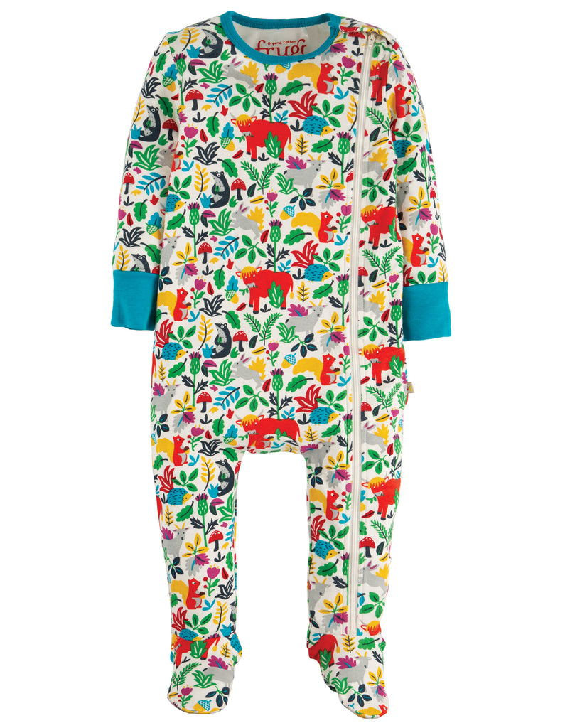Media Upload file Variants  Select: Size Price Quantity SKU Search engine listing preview  Frugi Zipped Babygrow Multi Woodland Critters