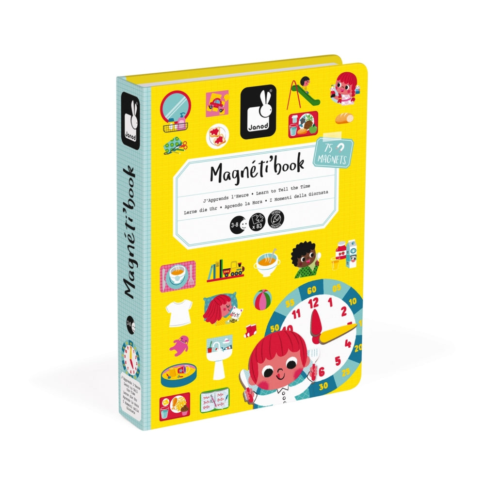 Janod Magnetic Book, Learn to Tell the Time