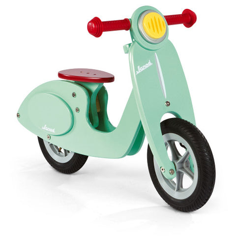 Janod Wooden Mint Scooter Balance Bike