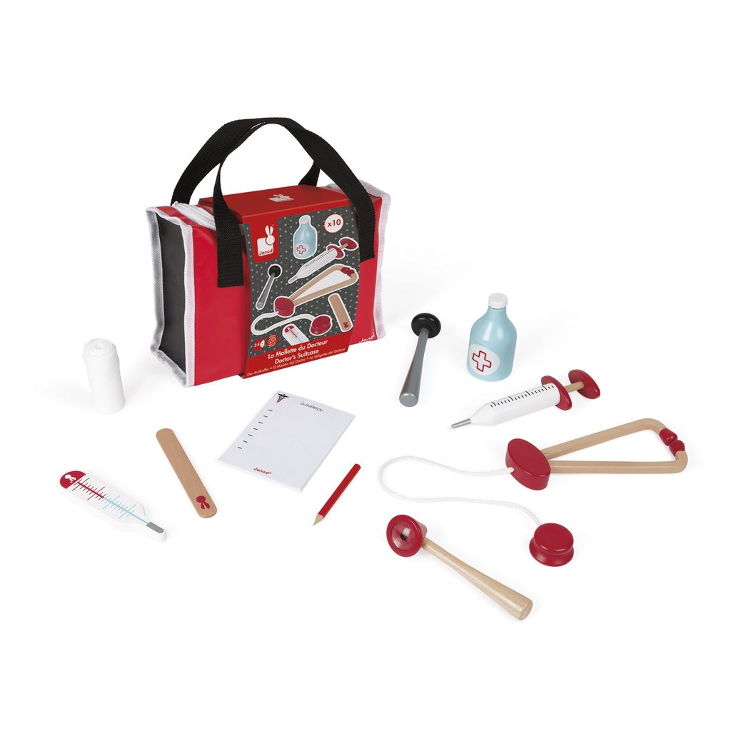 Janod Doctors Bag with Wooden Medical Kit
