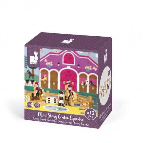 Janod Mini Story Play Set, Riding School