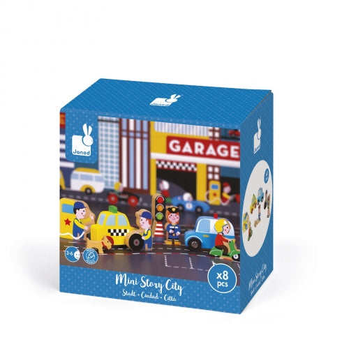 Janod Mini Story Play Set, City
