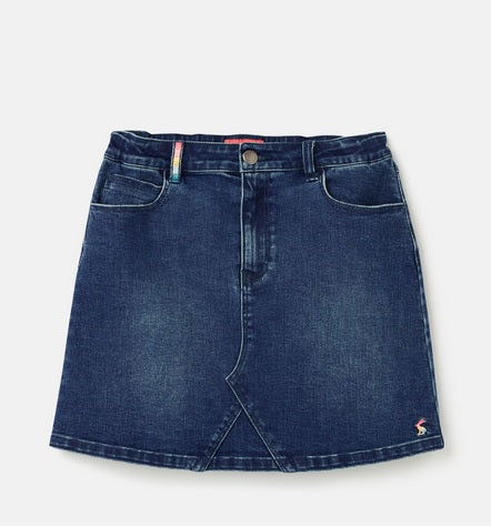 Joules Girls Hollis Denim Skirt