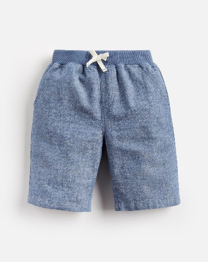 Joules Boys Huey Linen Shorts, Chambray