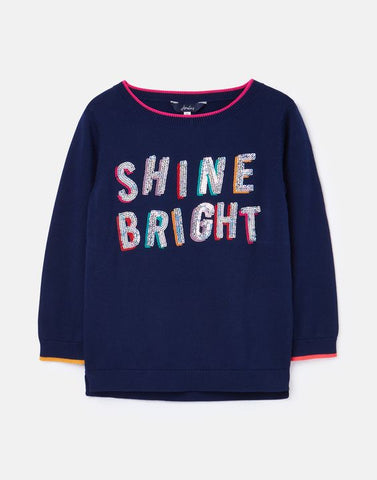 Joules Girls Miranda Jumper Shine Bright