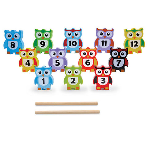 Jumini Wooden Stacking Owls 12 Piece