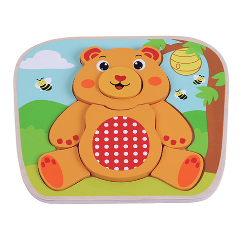 Jumini Wooden Teddy Bear Puzzle