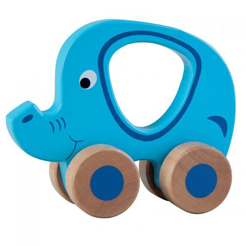 Jumini Wooden Push Along Friends Elephant