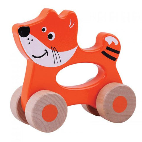 Jumini Wooden Push Along Friends Fox