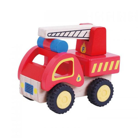 Jumini Wooden Fire Engine