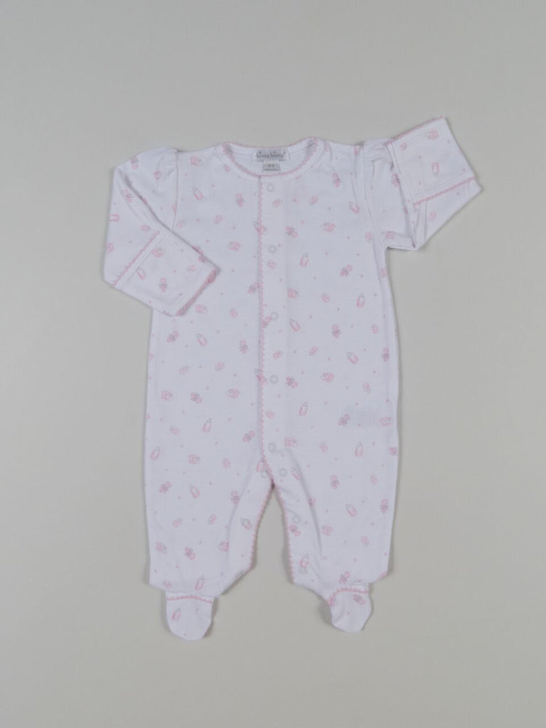 Kissy Kissy Pima Cotton Magical Moments Footie, Pink