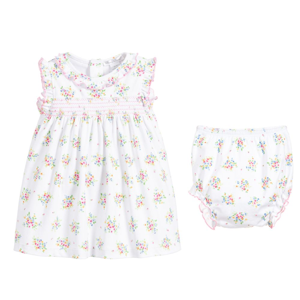 Kissy Kissy Pima Cotton Pansies Dress Set