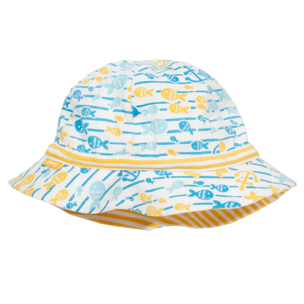 Kite Baby Fish Explorer Sun Hat Reversible