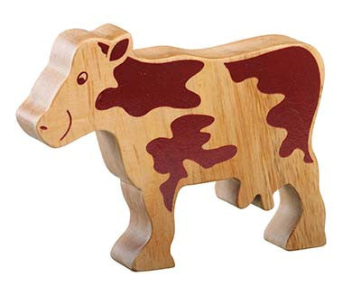 Lanka Kade Fairtrade Natural Wood Toys-Cow