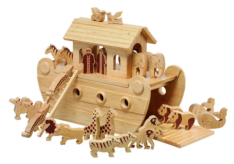 Lanka Kade Childrens Wooden Toys Natural wood Noah's Ark