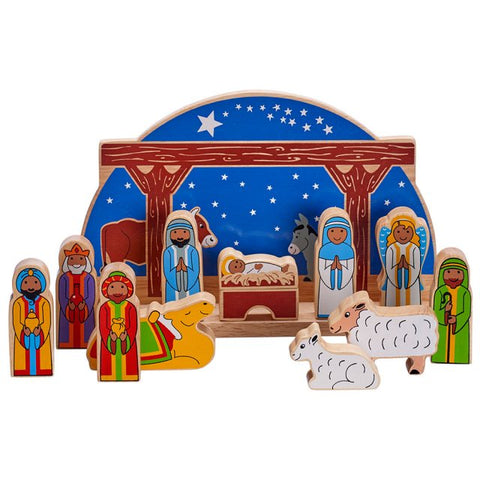 Lanka Kade Fairtrade Wooden Delux Starry Night Nativity