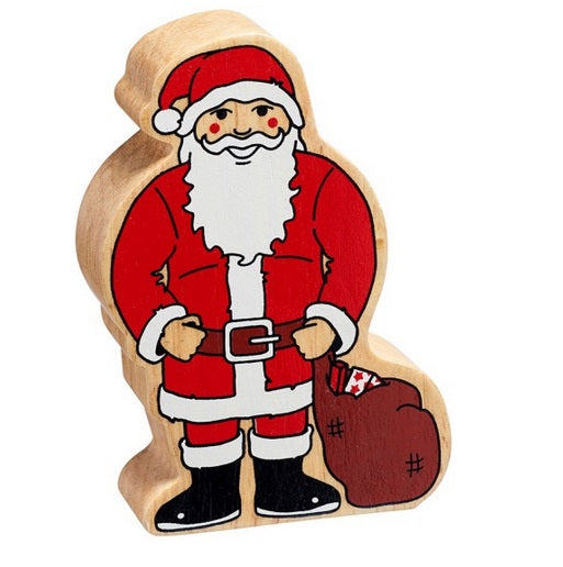 Lanka Kade Fairtrade Painted Wooden Father Christmas