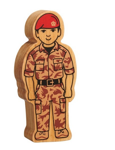 Lanka Kade Natural Figure Brown Army Officer