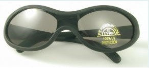 Lollipop UV 400 Black Rubber Sunglasses
