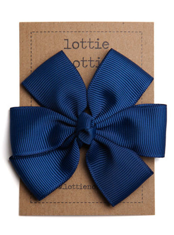 Lottie Nottie Big Bow Hair Clip, Navy