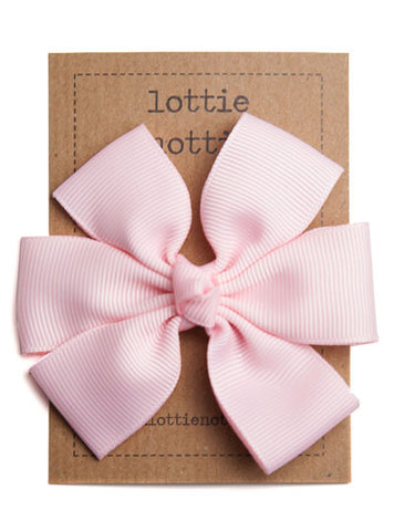 Lottie Nottie Big Bow Hair Clip, Pink