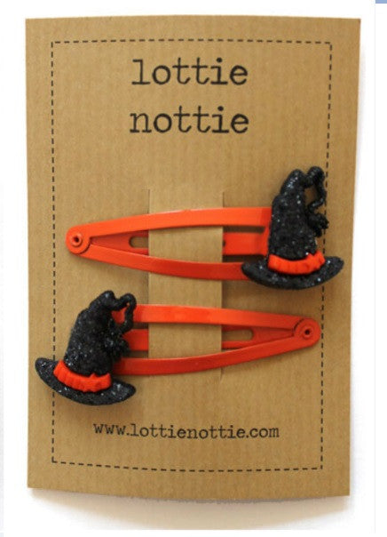 Lottie Nottie Halloween Witches Hats Hair Clips