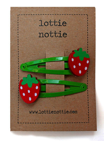 Lottie Nottie Strawberries on Green Clips