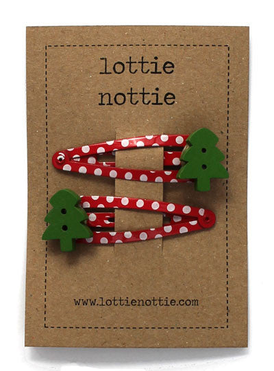 Lottie Nottie Christmas Trees Clips at Dandy Lions Baby shop