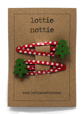 Lottie Nottie Christmas Hair Clips Christmas Trees