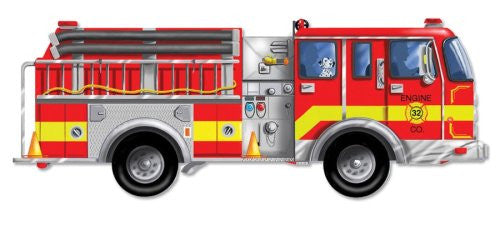 Childrens Toys - Melissa & Doug Giant Fire Engine Floor Puzzle