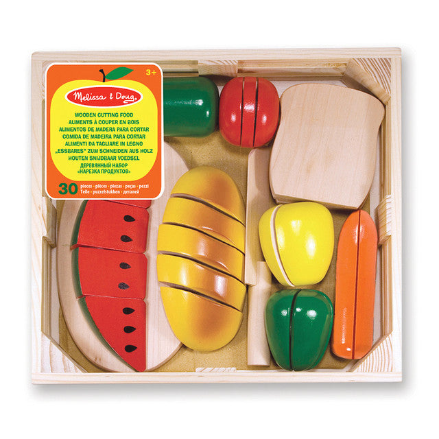 Melissa & Doug Wooden Childrens Toys Cutting Food set
