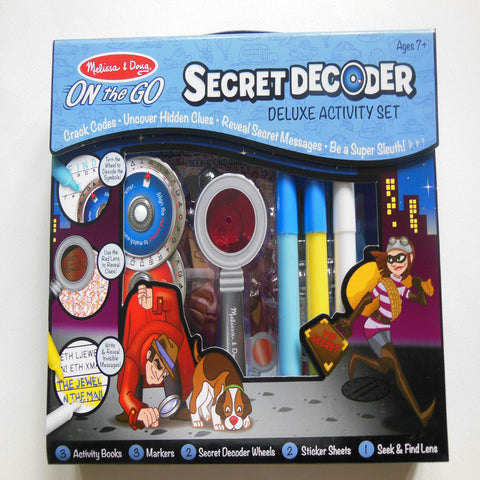 Melissa & Doug Secret Decoder Delux Activity Set