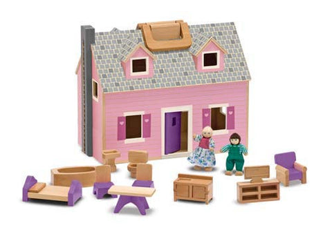 Childrens Toys - Melissa & Doug Fold and Go Doll House