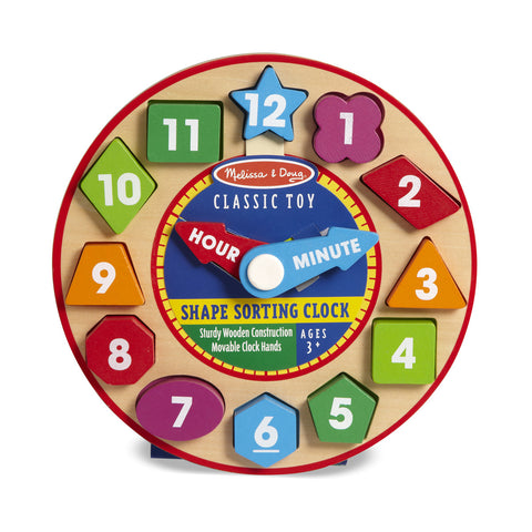 Childrens Toys Melissa & Doug Shape Sorting Clock