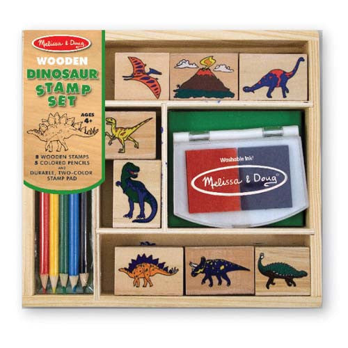 Melissa & Doug Childrens Toys Stamp Set Dinosaurs