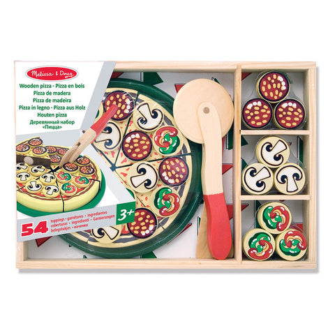 Melissa & Doug Wooden Childrens Toys Pizza Party Set