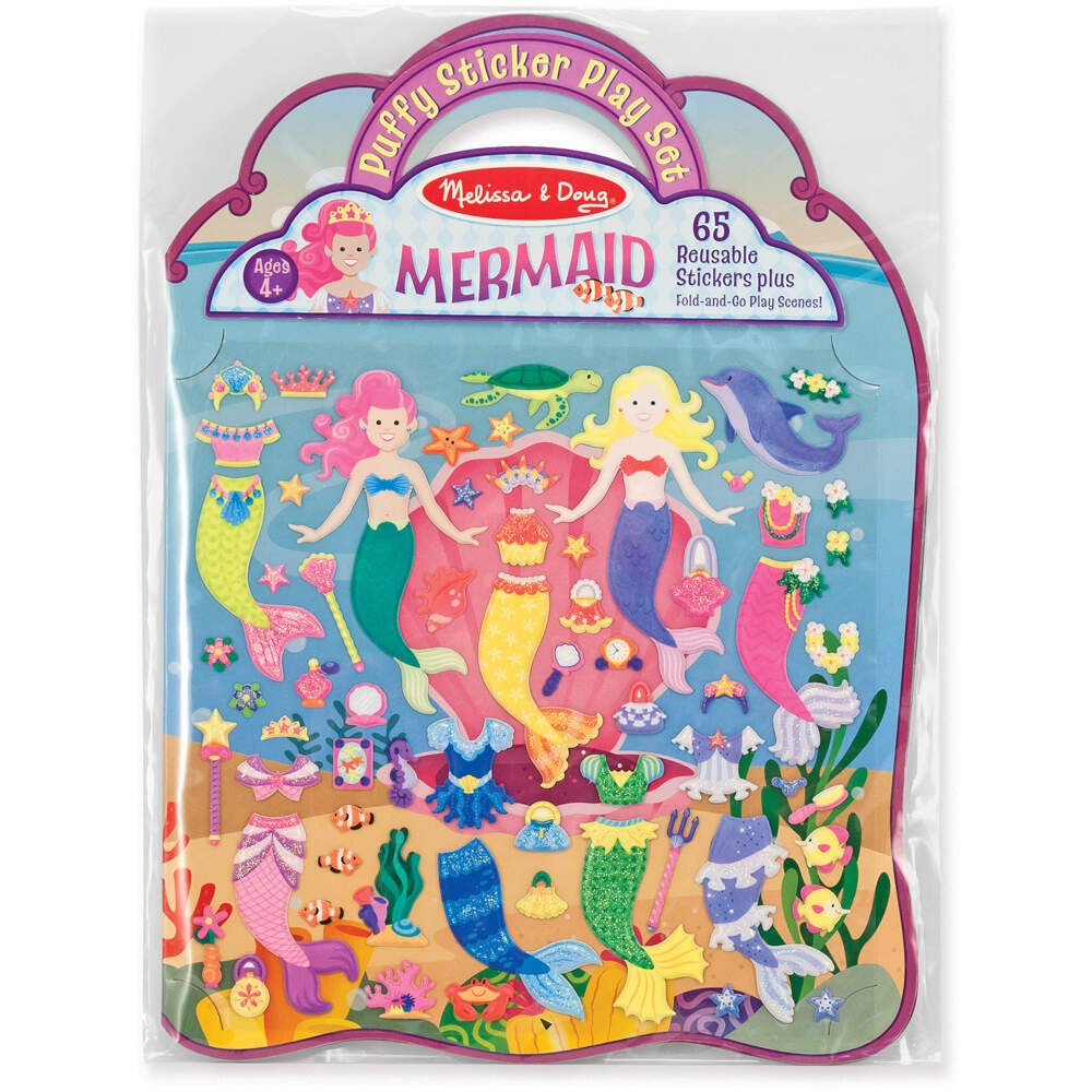 Melissa & Doug Reusable Puffy Sticker Set Mermaid