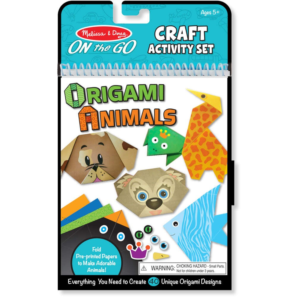 Melissa & Doug On-The-Go Crafts, Origami Animals
