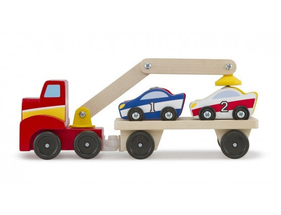 Melissa & Doug Childrens Toys Magnetic Car Loader