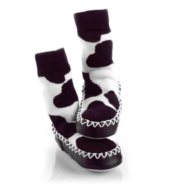 MoccOns Slipper Socks Cow Print