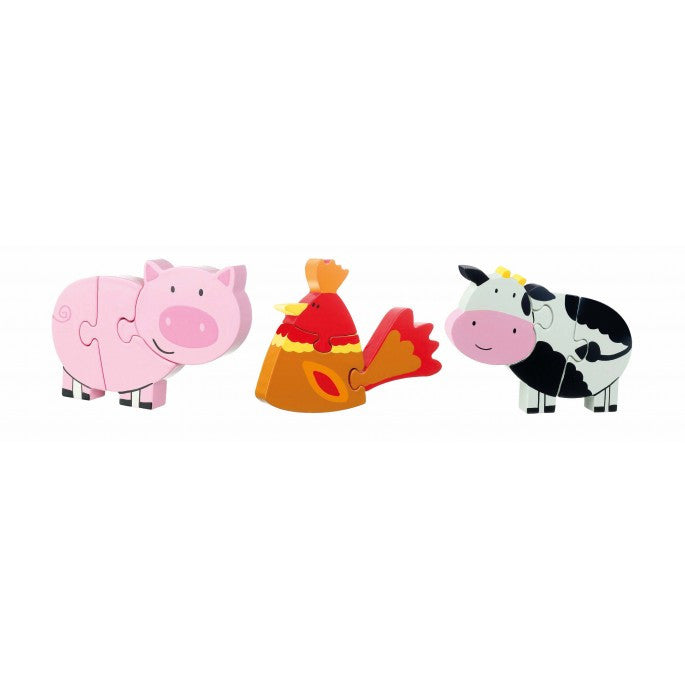Orange Tree Toys Farm Yard Mini Puzzles