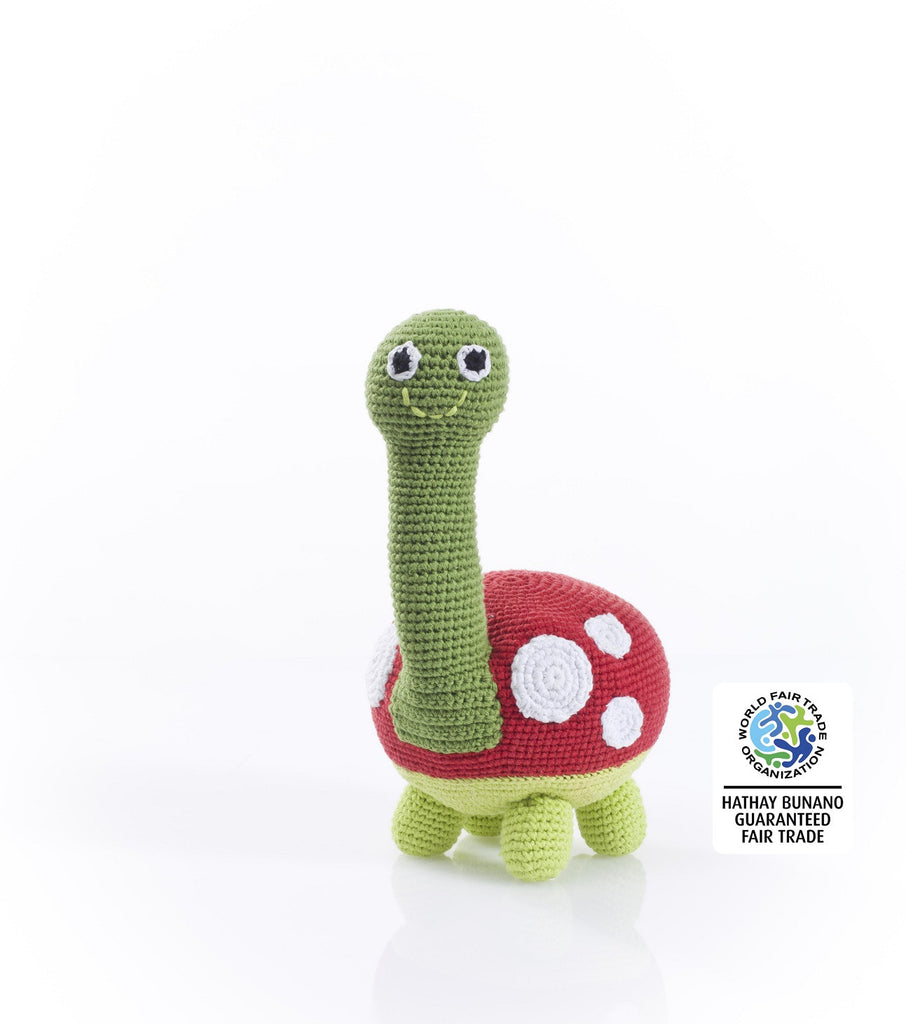 Pebble Fairtrade Crochet Large Turtle Toy